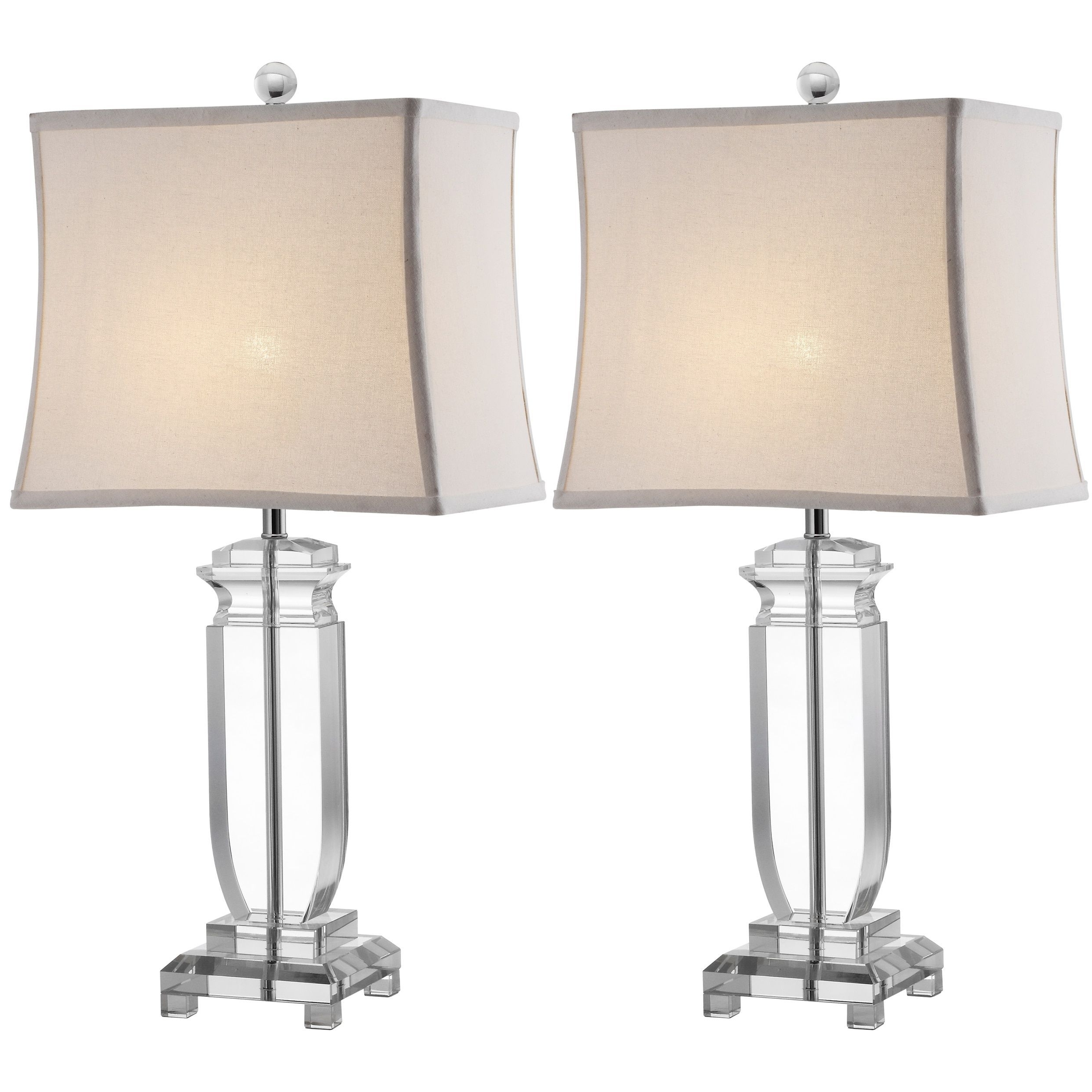 Recent Safavieh Lighting 25 Inch Olympia Crystal Table Lamps (Set Of 2 In Set Of 2 Living Room Table Lamps (View 10 of 20)