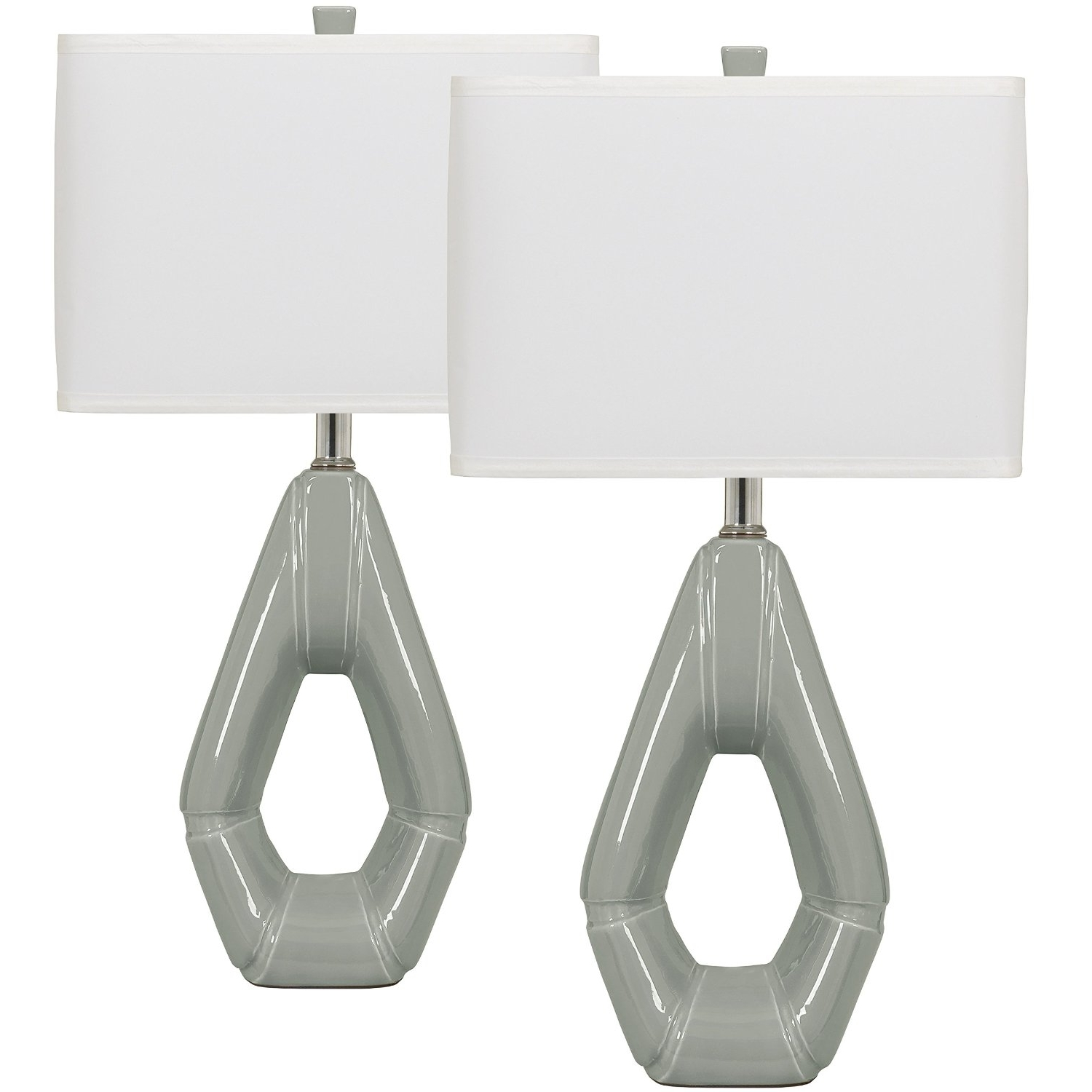 Recent Set Of 2 Living Room Table Lamps Within Modern Living Room Table Lamp Set Grey Ceramic Table Lamp Set Of 2 (Gallery 13 of 20)