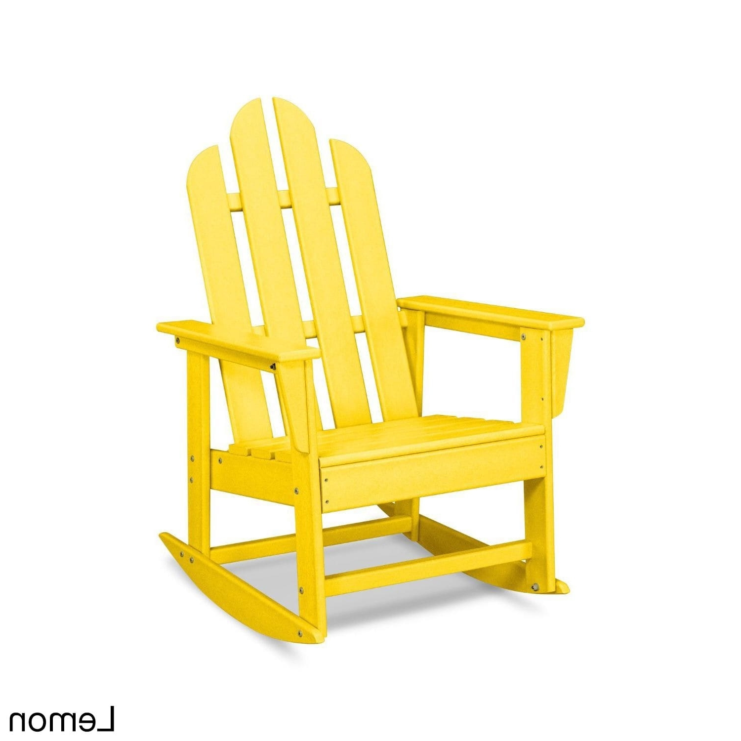 Recent Polywood Long Island Outdoor Rocking Chair Free Shipping With Yellow Chairs