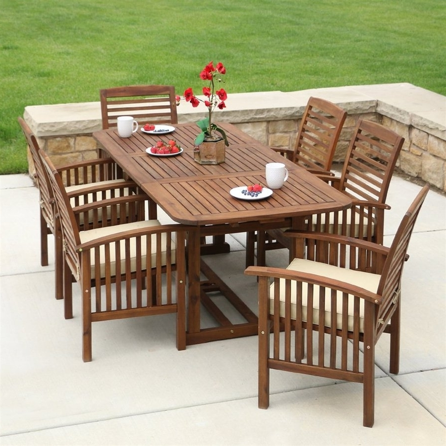 Recent Sling Patio Conversation Sets In Awesome Gables 4 Piece Wood Sling Patio Conversation Furniture Set (View 19 of 20)