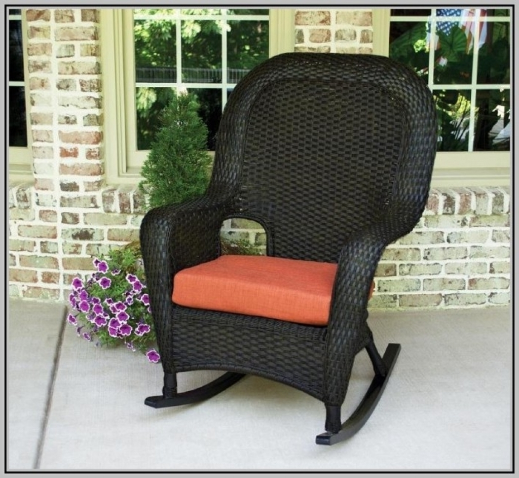 Recent The Portside Classic All Weather Wicker Rocking Chair Set Inside For Rocking Chair Cushions For Outdoor (View 13 of 20)
