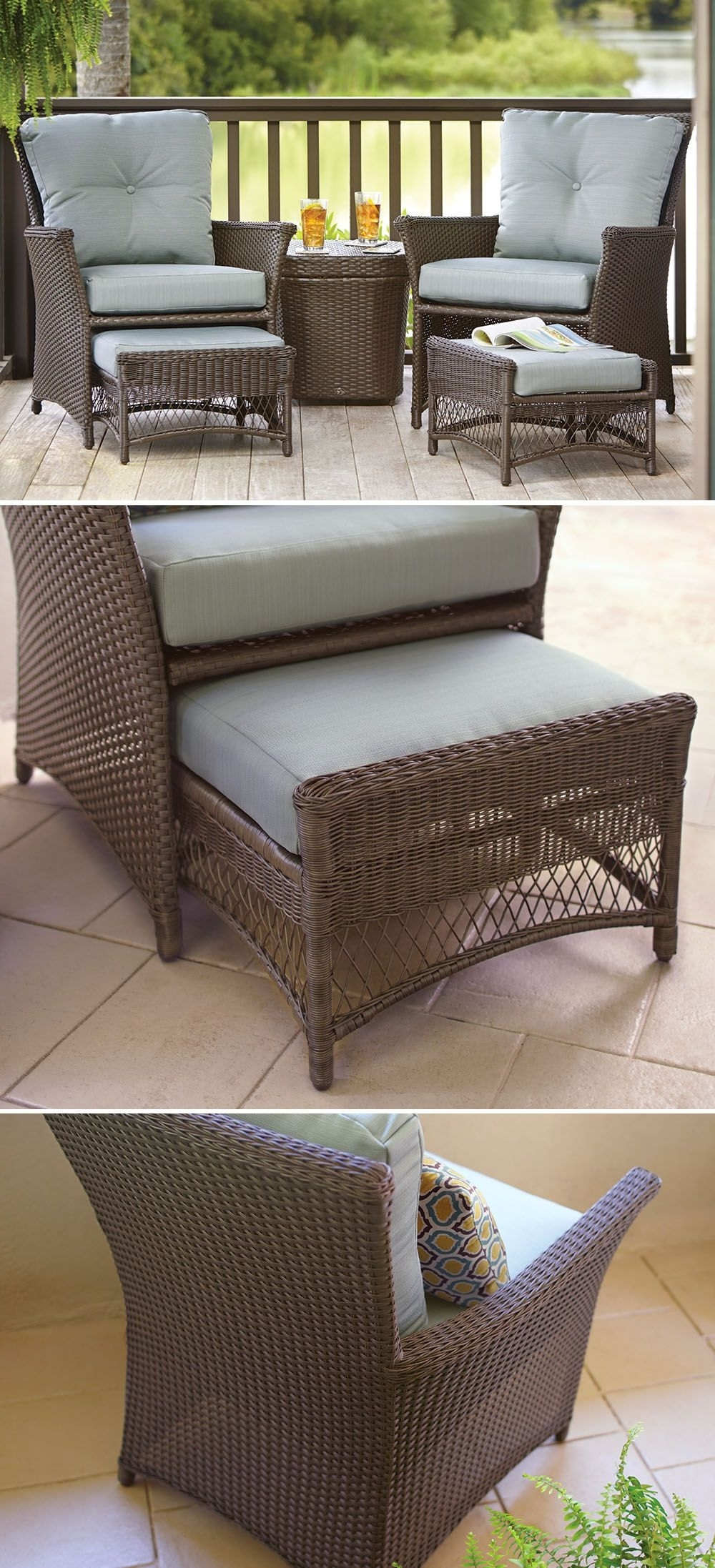 Recent This Affordable Patio Set Is Just The Right Size For Your Small In Patio Conversation Sets With Ottomans (View 10 of 20)
