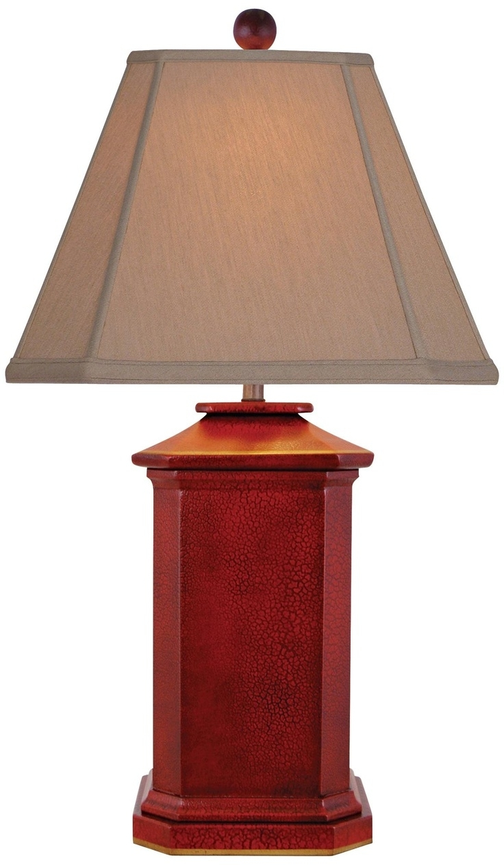 Red Living Room Table Lamps Intended For Most Current Shocking Ideas Red Table Lamps For Living Room Small Home Remodel (View 2 of 20)