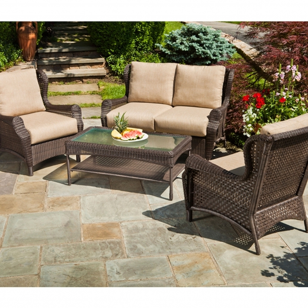 Resin Conversation Patio Sets Throughout 2019 Outdoor Patio Furniture Resin Wicker Conversation Amcordesign (Gallery 6 of 20)
