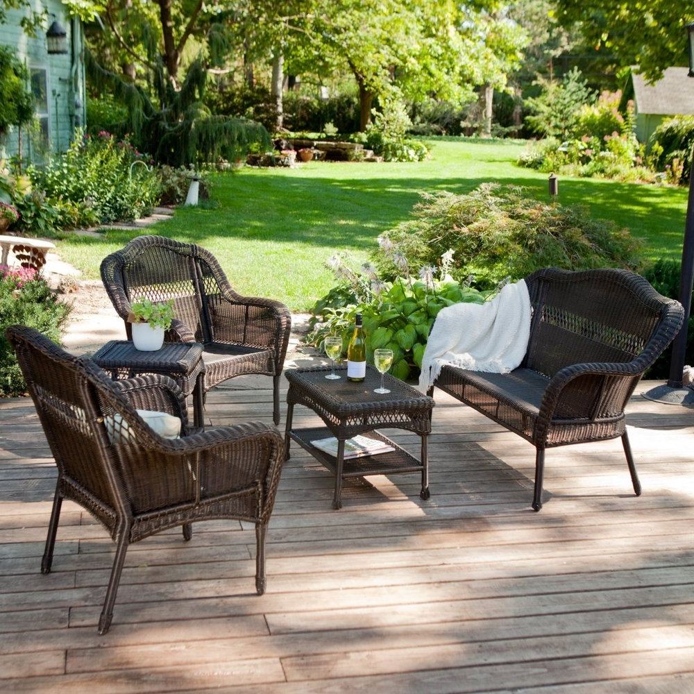 Resin Wicker Patio Conversation Sets With Regard To Well Liked Wicker Patio Furniture Sets Care : Sathoud Decors – Wicker Patio (Gallery 9 of 20)