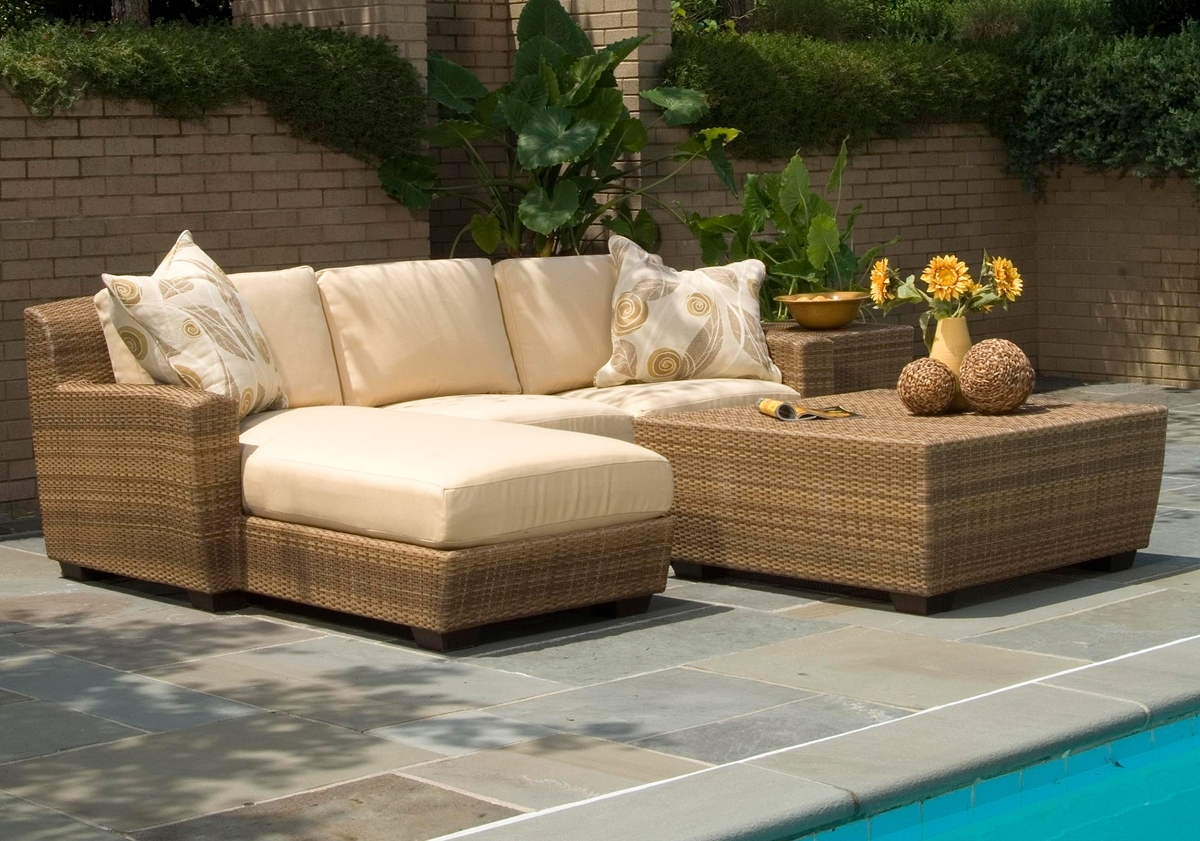 Resin Wicker Patio Conversation Sets With Well Known Patio Table: Wicker Patio Set Clearance Wicker Outdoor Furniture (Gallery 12 of 20)