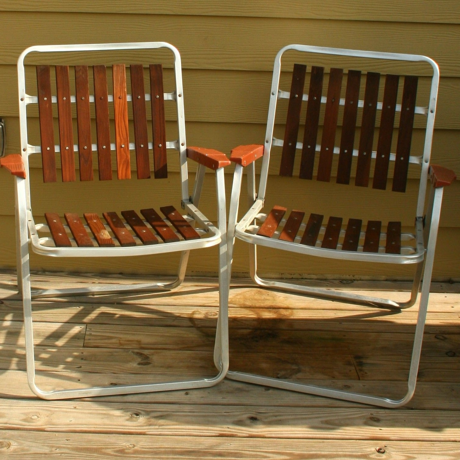 Retro Outdoor Rocking Chairs For Well Known Vintage Folding Lawn Chairs. Mid Century Modern (View 12 of 20)