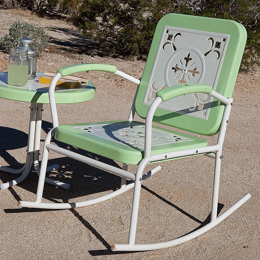 Retro Outdoor Rocking Chairs Pertaining To Current Best Of Vintage Folding Lawn Chairs » Nonsisbudellilitalia (View 16 of 20)