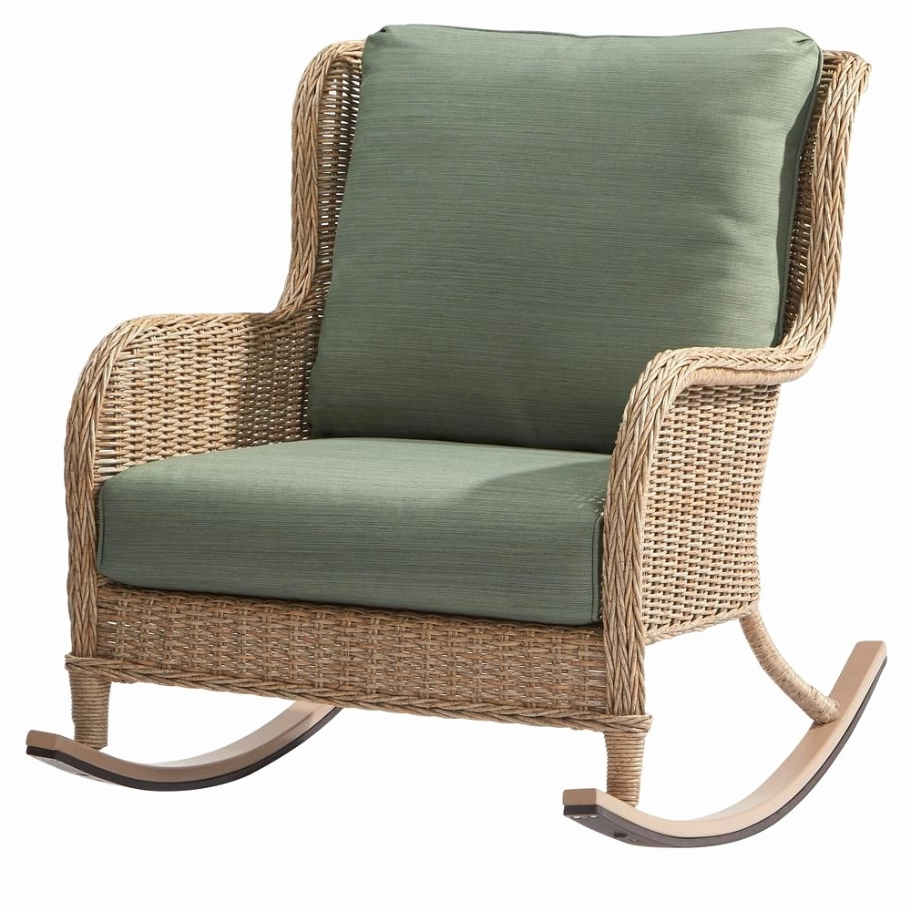 Rocking Chair On Porch Fresh Hampton Bay Lemon Grove Wicker Outdoor Inside Most Current Hampton Bay Rocking Patio Chairs (View 11 of 20)