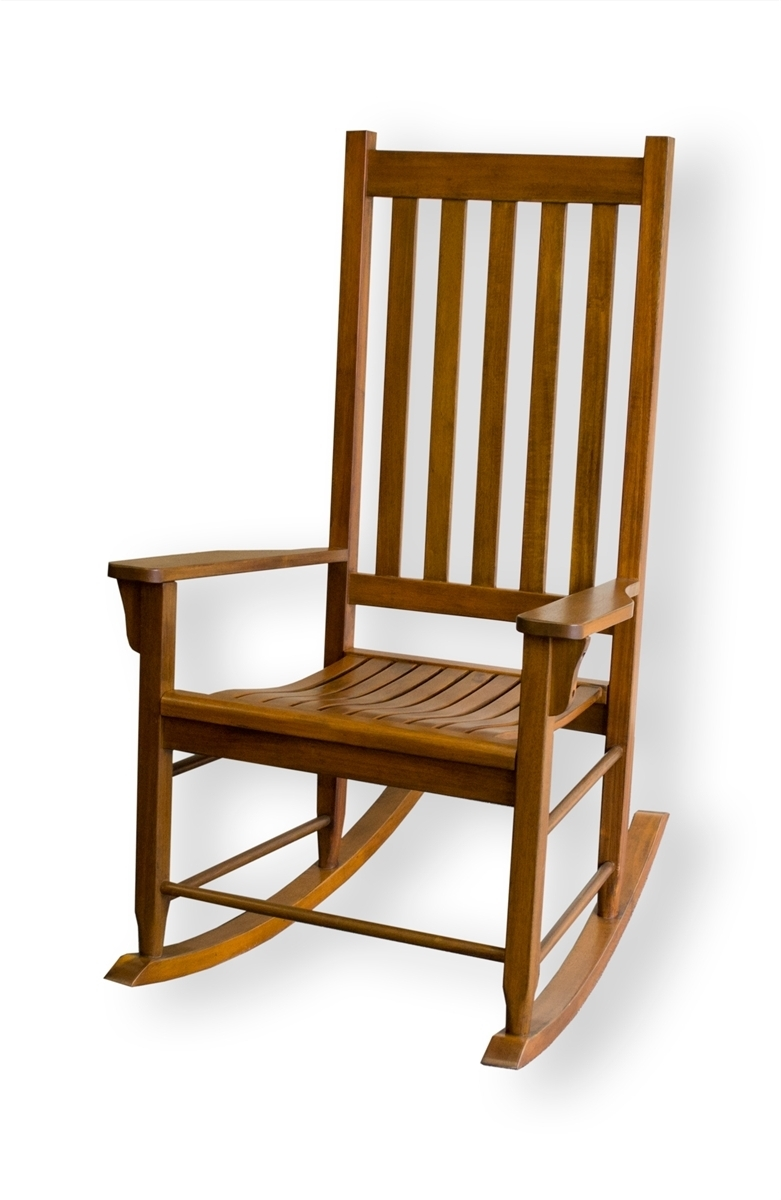 Rocking Chair Outdoor Wooden In Most Current Tortuga Outdoor Wood Porch Rocking Chair With Oak Finish – Free Shipping (View 14 of 20)