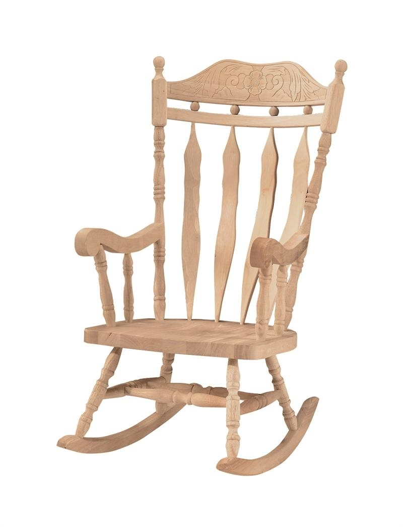 Rocking Chair Outdoor Wooden Intended For Well Known Outdoor Wooden Rocking Chairs Chair Kits Amazon High Back (View 16 of 20)