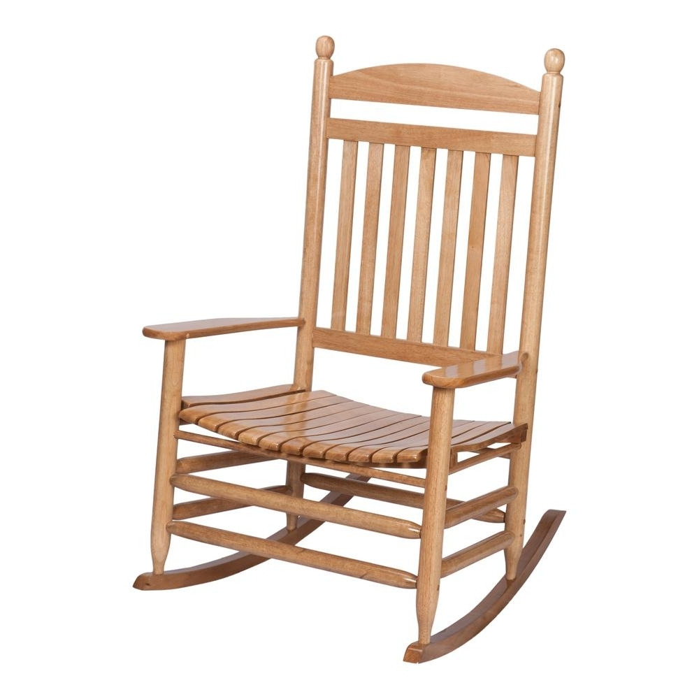 Rocking Chairs At Home Depot Inside 2019 Bradley Maple Jumbo Slat Wood Outdoor Patio Rocking Chair 1200sm Rta (View 9 of 20)