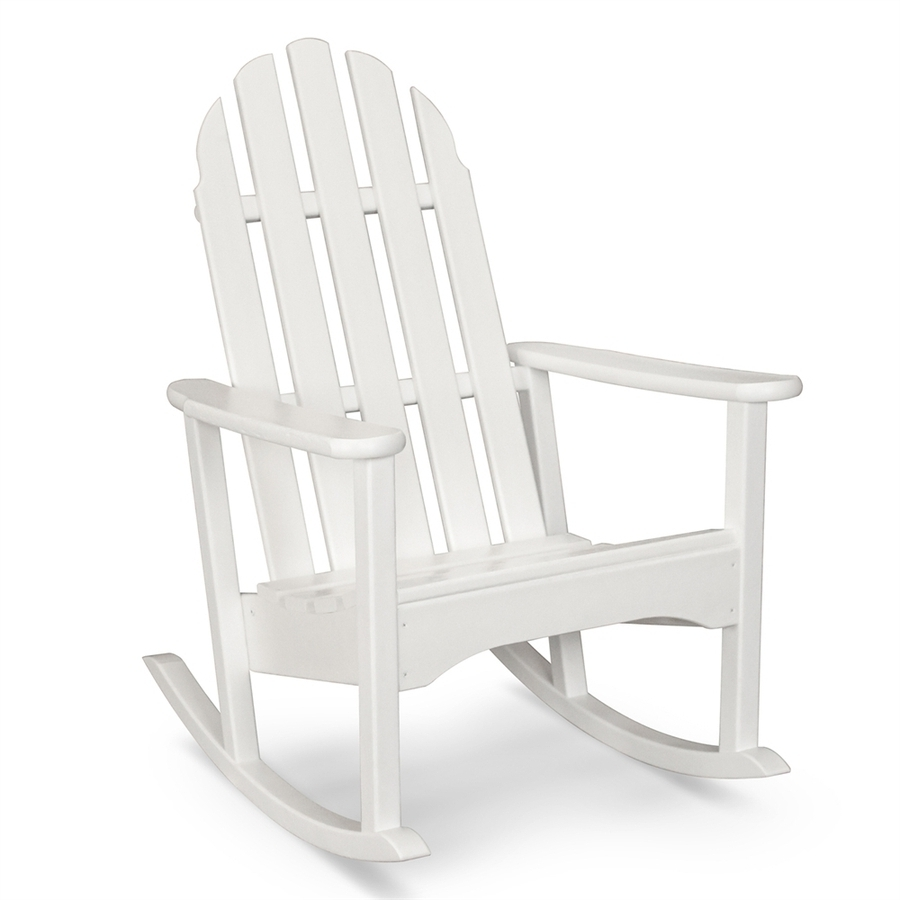 Rocking Chairs At Lowes For Widely Used Shop Polywood Classic Adirondack Plastic Rocking Chair With Slat (View 14 of 20)