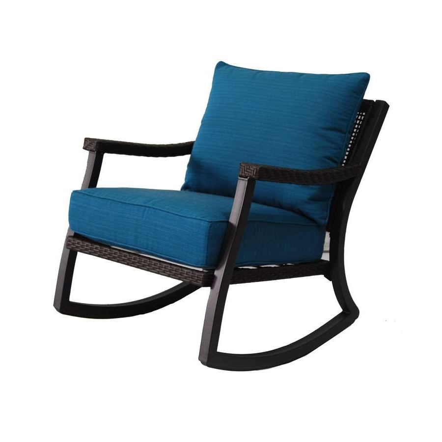 Rocking Chairs At Lowes Pertaining To 2019 Black Rocking Chairs Lowes Unique Shop Allen Roth Netley Brown (View 15 of 20)