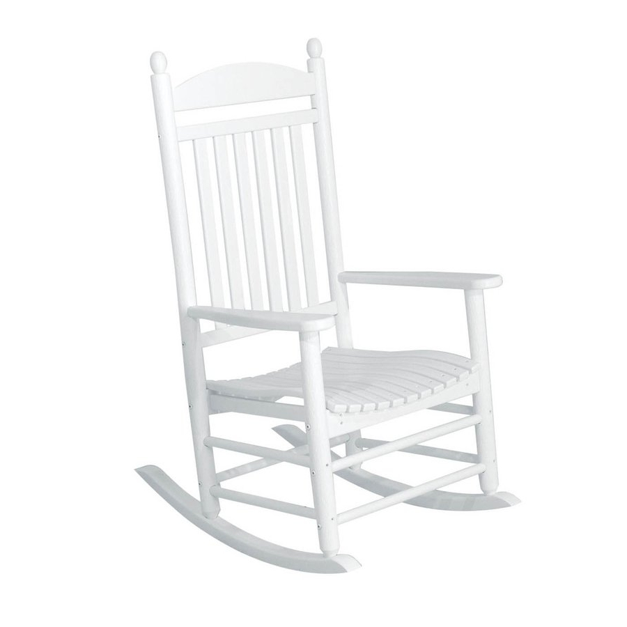 Rocking Chairs At Lowes Regarding Recent Livingroom : Lowes Rocking Chair Reviews Chairs Outdoor Wood Plastic (View 12 of 20)