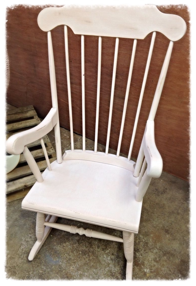 Rocking Chairs At Roses For Most Current Rocking Chair In Autentico Antique Rose Then White Waxed (View 6 of 20)