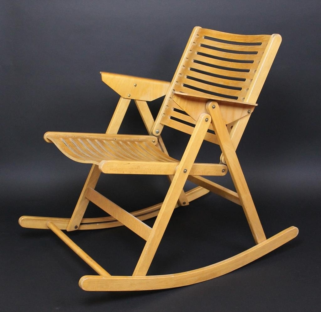 Rocking Chairs At Sam's Club With Popular Folding Wooden Rocking Chair Front Porch Chairs On Sale Gci In A Bag (View 7 of 20)