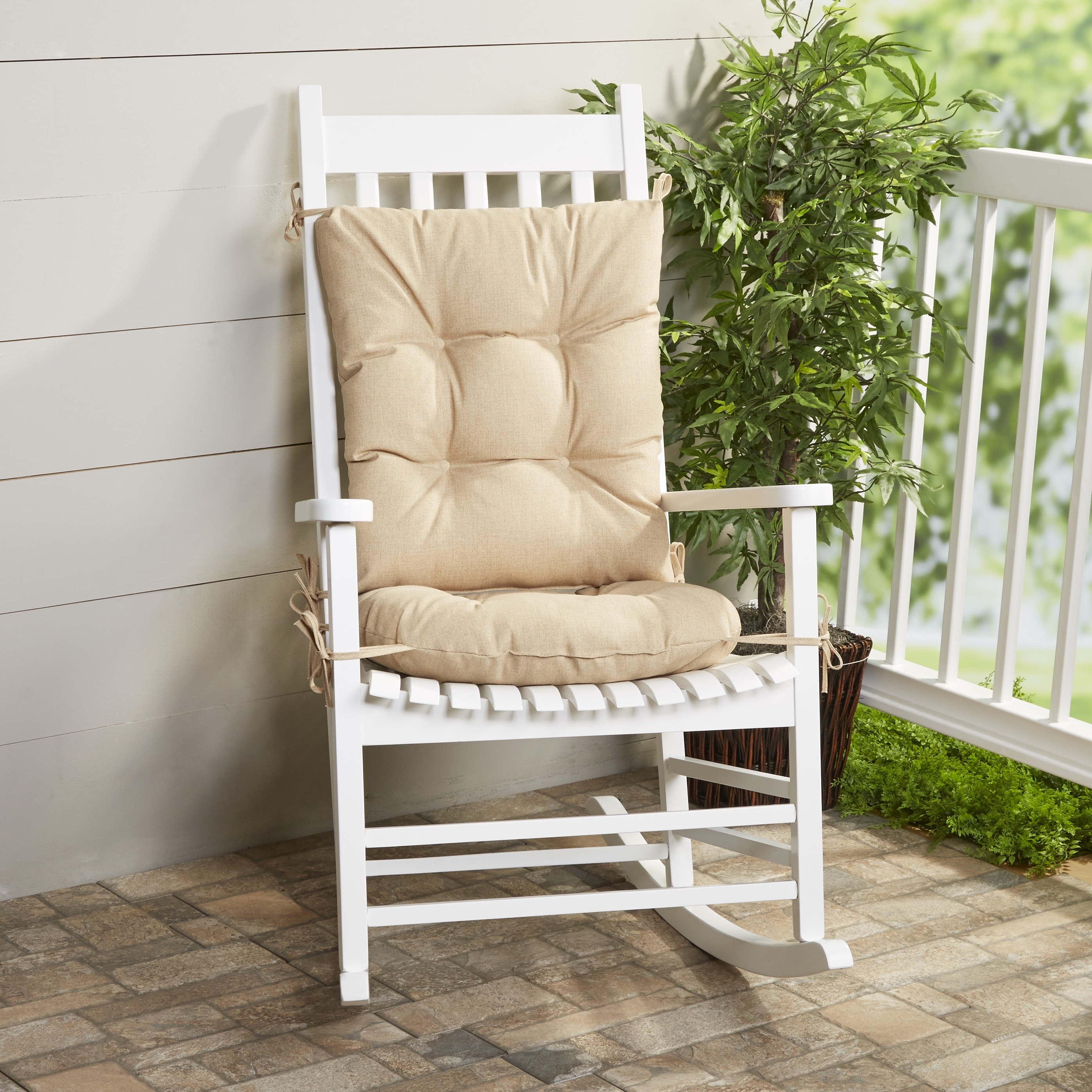 Rocking Chairs At Wayfair Regarding Preferred Furniture: White Wooden Wayfair Rocking Chair With Cushion For (View 18 of 20)