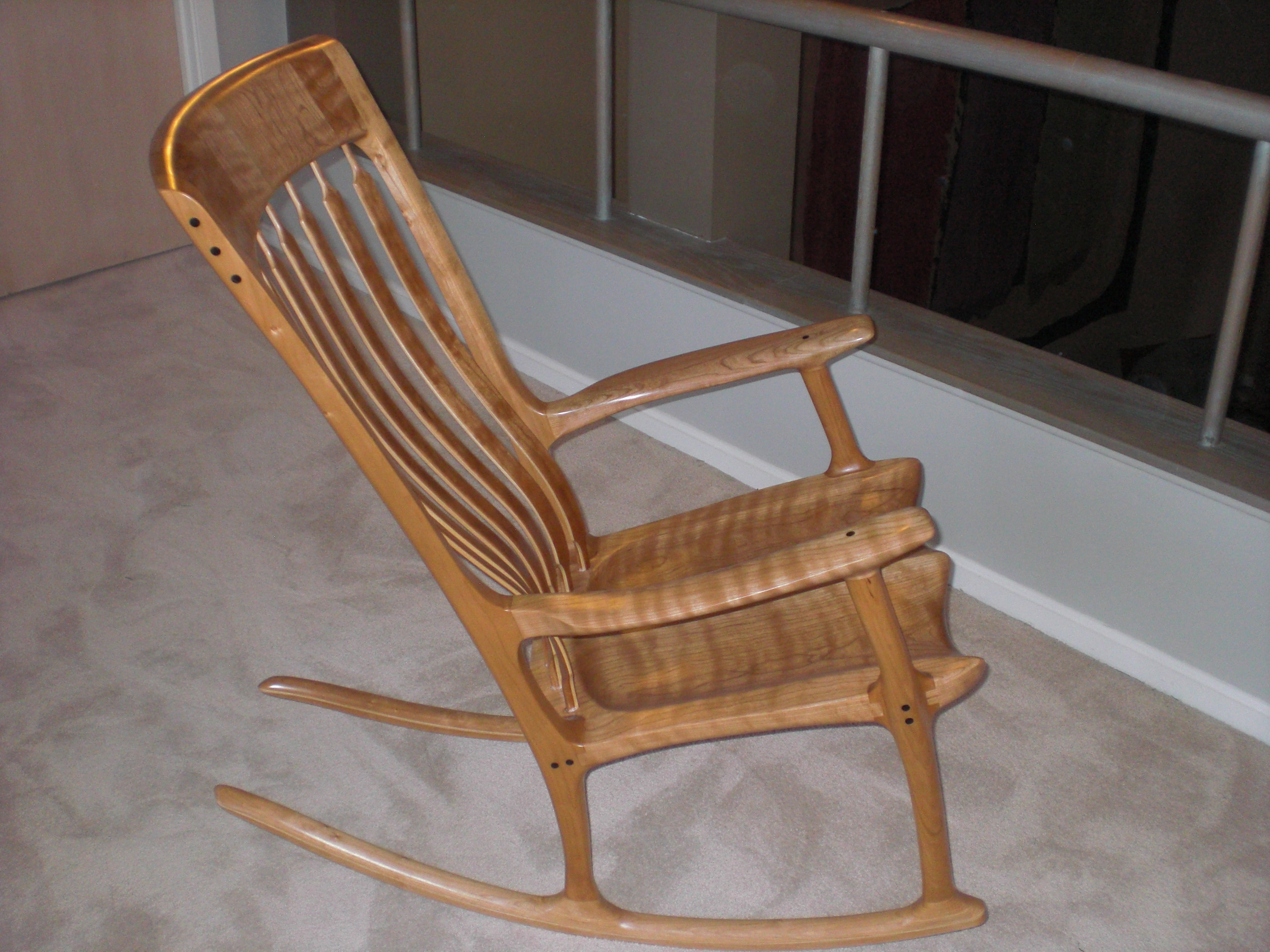 Rocking Chairs For Adults With Regard To Favorite Gallery 1 – Domestic Cherry Rocking Chairs – Rocking Chairsr. C (View 14 of 20)