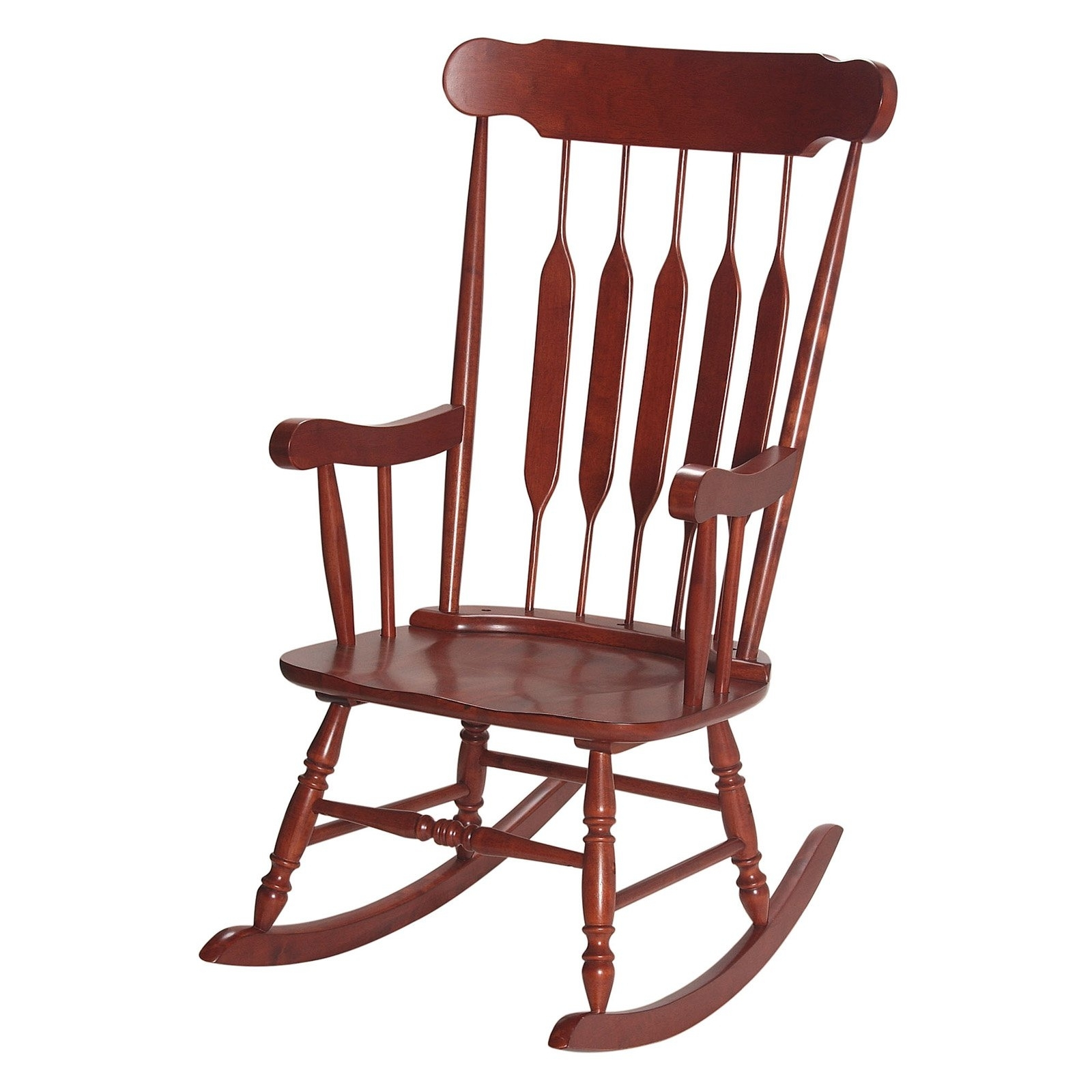 Rocking Chairs For Adults Within Recent Gift Mark Mission Style Wooden Rocking Chair With Upholstered Seat (View 3 of 20)