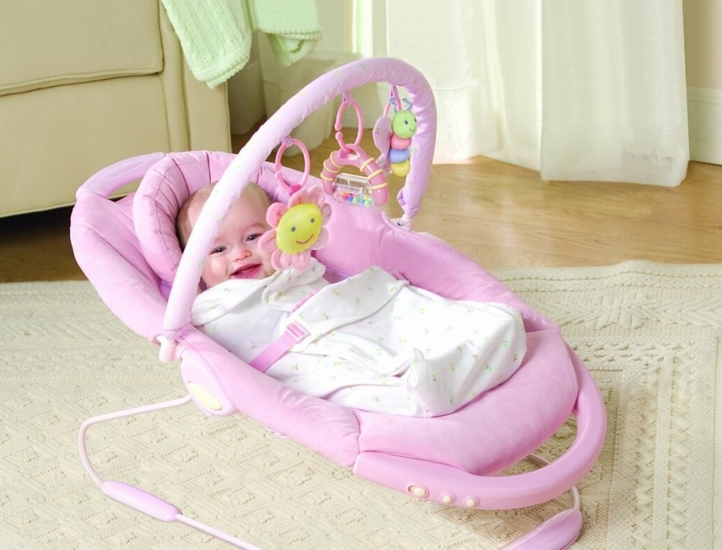 Rocking Chairs For Babies With Best And Newest Furniture: Modern Electric Pink Baby Girls Rocking Chair – Cool Baby (View 11 of 20)