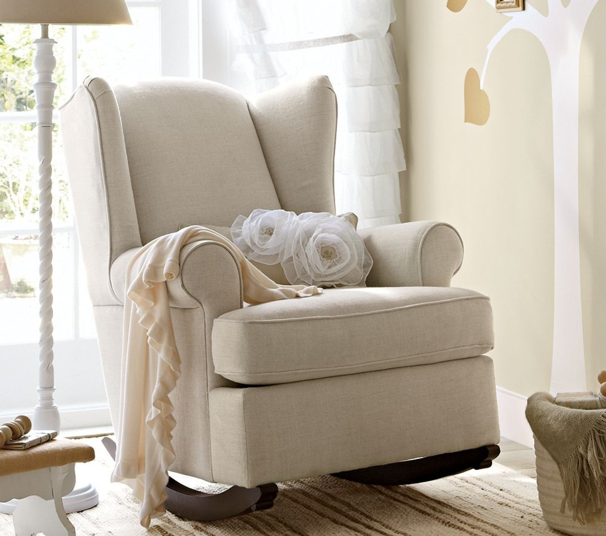 Rocking Chairs For Baby Room With Favorite Furniture Nursery Rocking Chair With Ottoman Chairs For Baby Room (View 17 of 20)