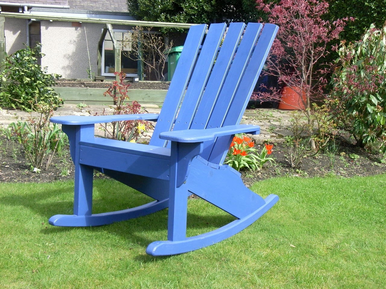 Rocking Chairs For Garden Within Fashionable The Adirondack Rocker Chair – Sunshine Chairs (View 16 of 20)