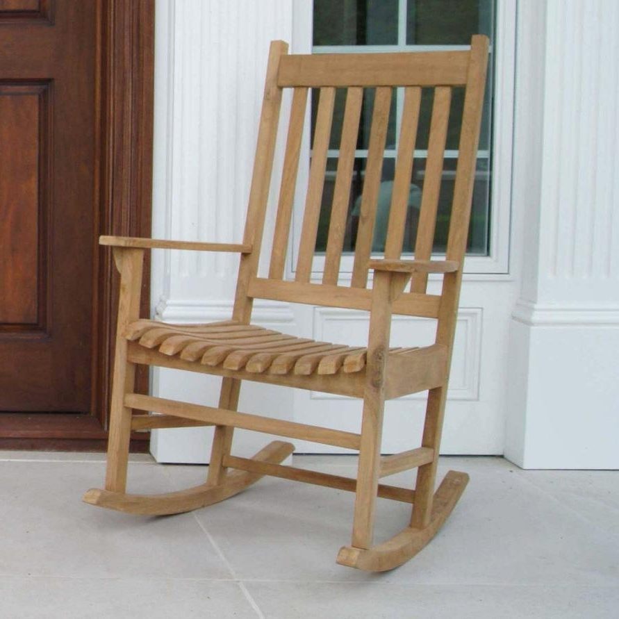 Rocking Chairs For Outdoors Pertaining To Favorite Buy Jewels Of Java Outdoor Teak Rocking Chair Online – Rocking Furniture (View 17 of 20)