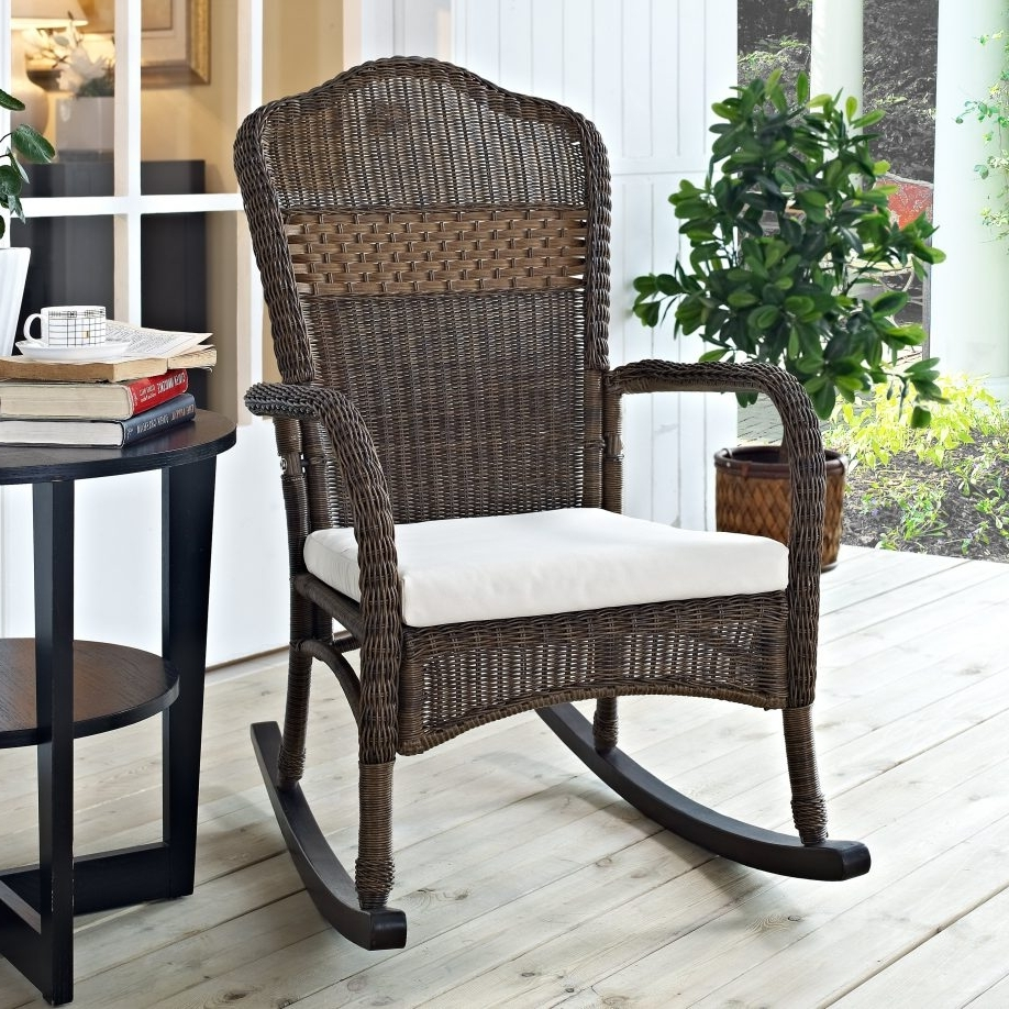 Rocking Chairs For Porch In Latest White Patio Rocking Chair Furniture Braid Rattan Outdoor Chairs For (View 7 of 20)