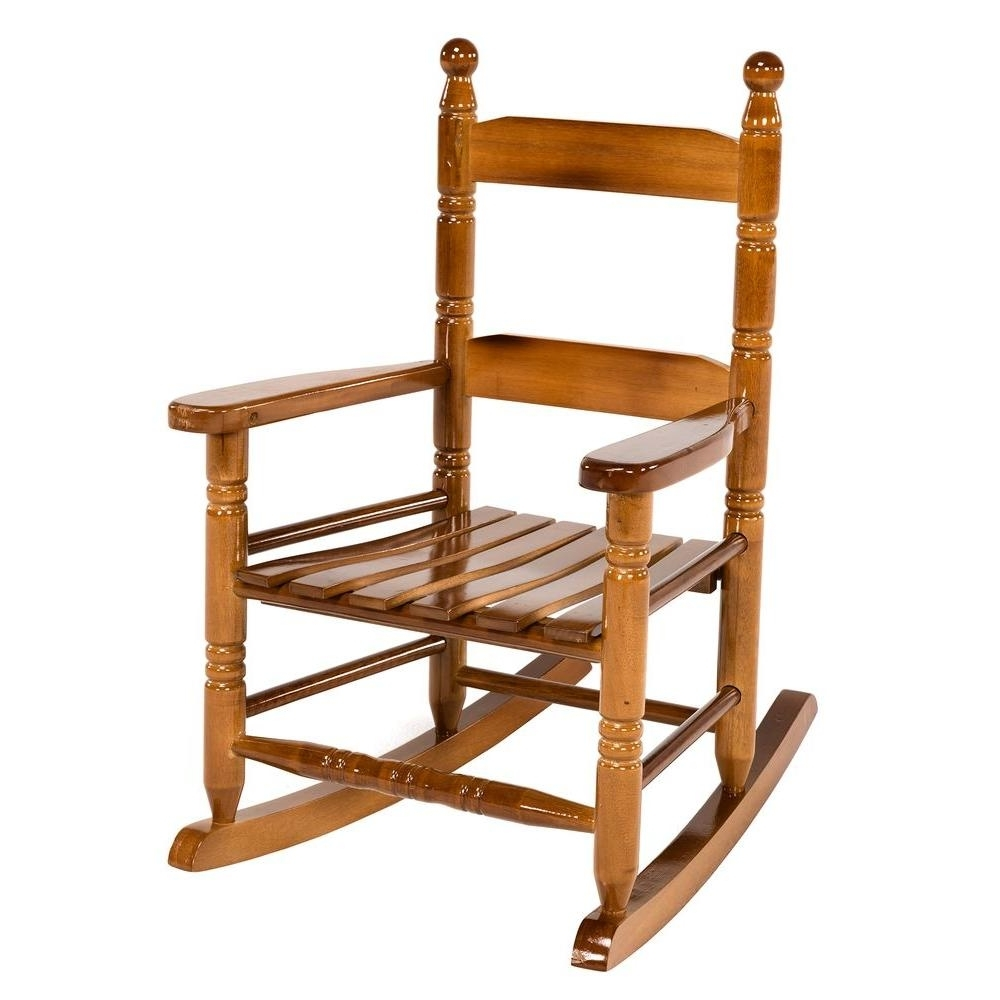 Rocking Chairs For Toddlers Intended For Most Current Jack Post Oak Children's Patio Rocker 08101784 – The Home Depot (View 11 of 20)