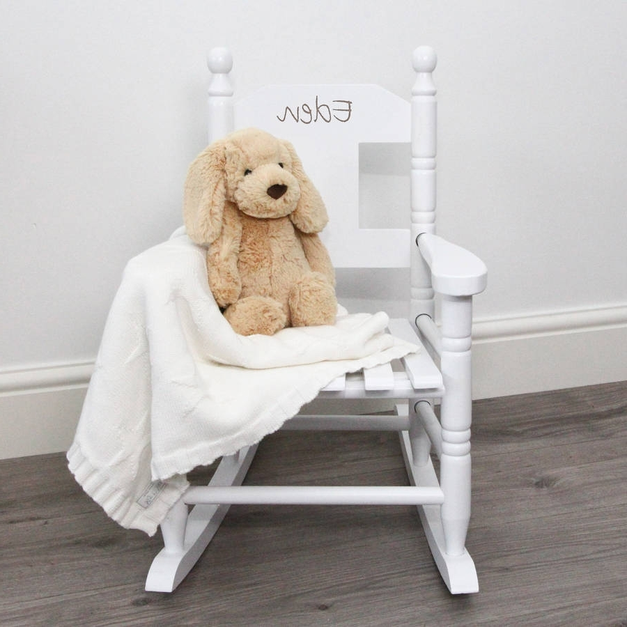 Rocking Chairs For Toddlers Throughout Trendy Personalised Child's Rocking Chairmy 1St Years (View 14 of 20)