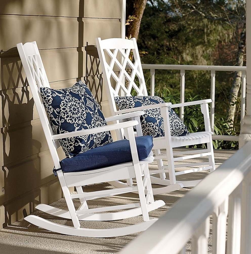 Rocking Chairs With Cushions Throughout Latest Garden & Patio Furniture : Patio Rocking Chairs With Cushions The (View 15 of 20)
