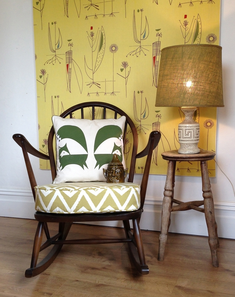 Rocking Chairs With Cushions With Most Recently Released Vintage Ercol Rocking Chair With Scion Dhurrie Cushion – Live Like (View 13 of 20)