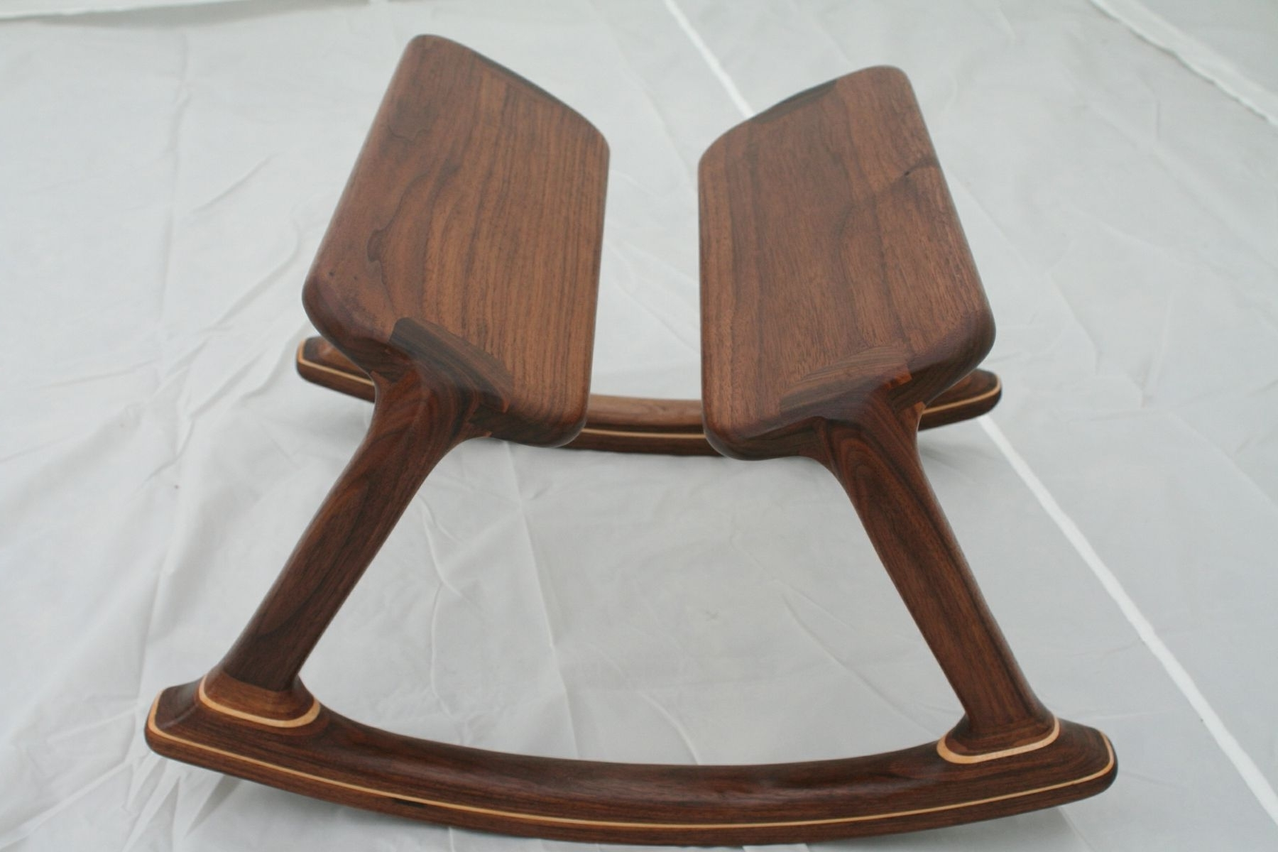 Rocking Chairs With Footstool Intended For Recent Custom Walnut Rocking Footstoolwood In Motion (View 14 of 20)