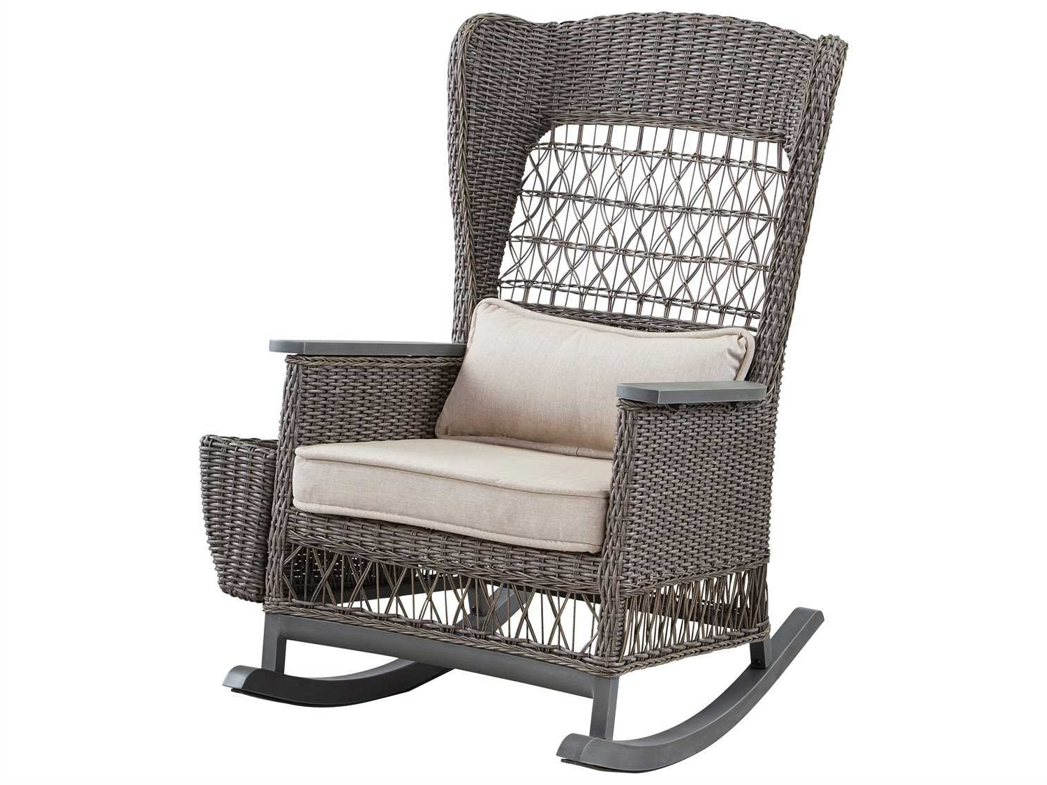 Rocking Chairs With Lumbar Support For Favorite Paula Deen Outdoor Dogwood Wicker Rocker Chair With Lumbar Pillow (View 13 of 20)