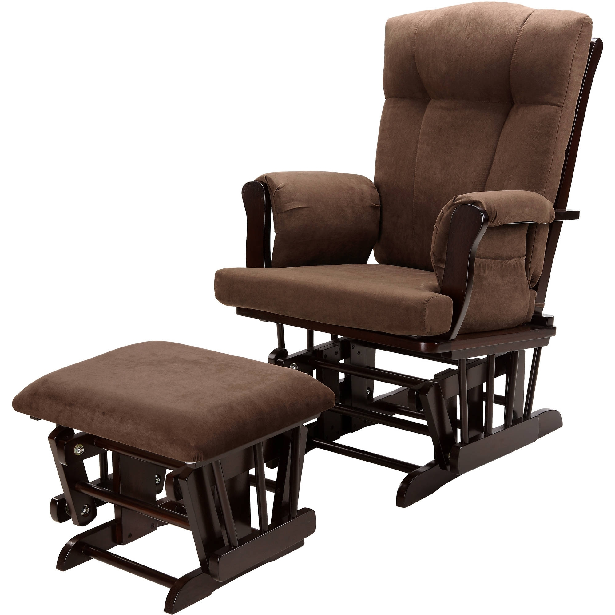 Rocking Chairs With Ottoman In Widely Used Baby Relax Glider Rocker And Ottoman Espresso With Chocolate (View 8 of 20)