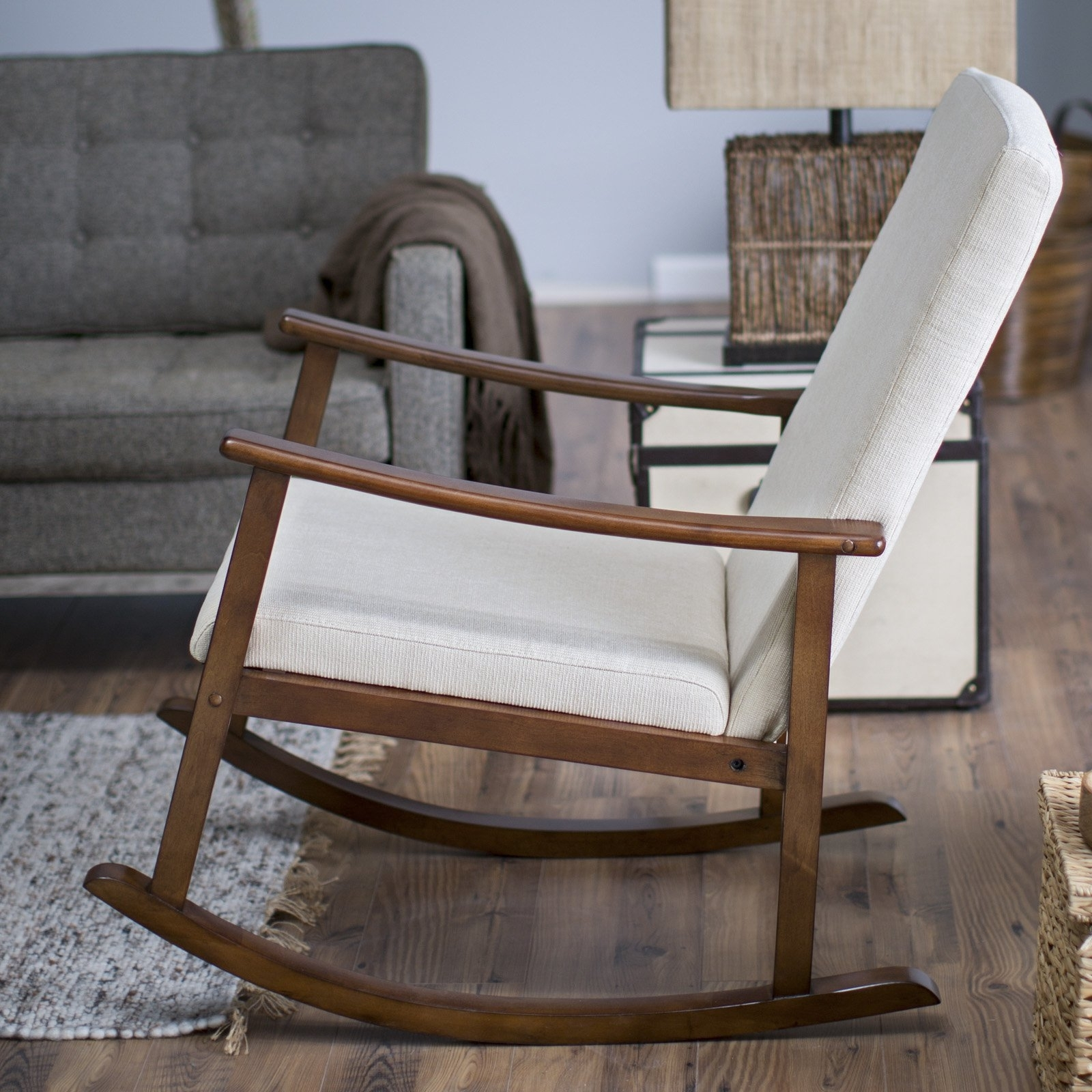 Rocking Chairs With Regard To Famous Belham Living Holden Modern Indoor Rocking Chair – Upholstered (View 16 of 20)