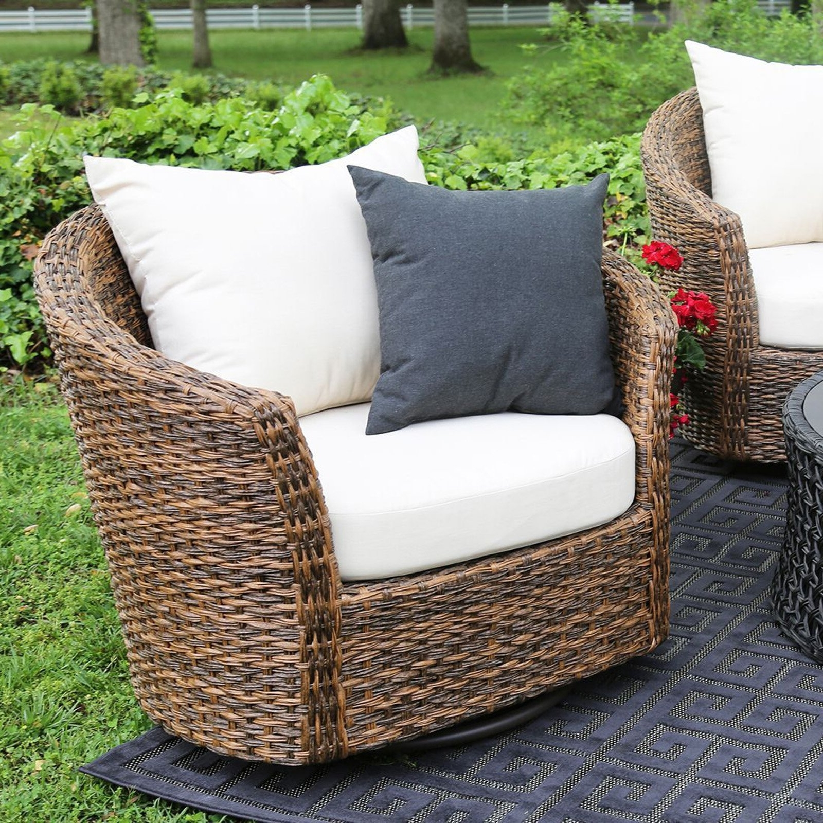 Rona Patio Rocking Chairs In Famous Swivelr Patio Chairs Unusual Set With Furniture Rocker Swivel (View 12 of 20)