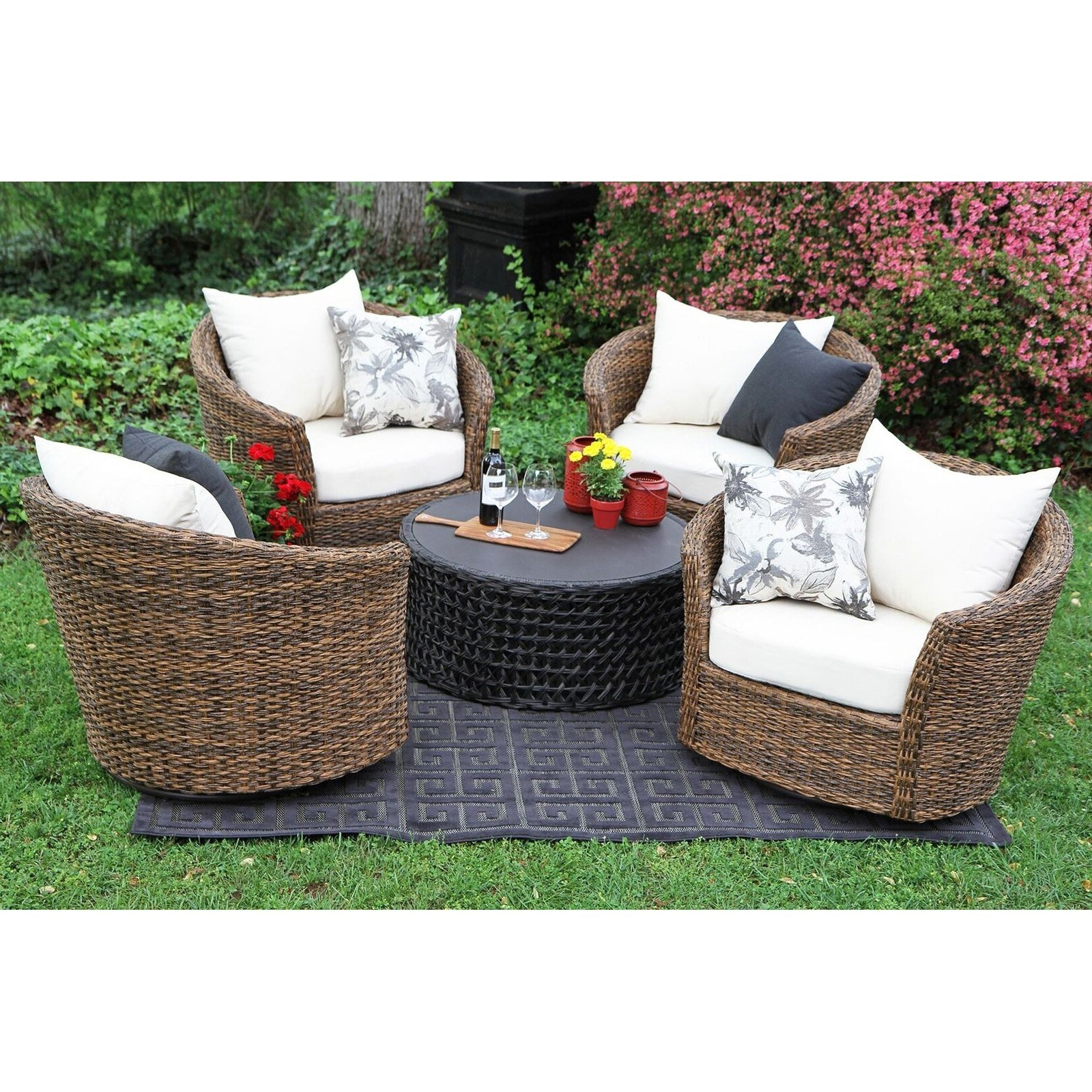 Round Patio Conversation Sets Pertaining To Widely Used Patio : Kroger Patio Furniture Kroger Outdoor Furniture (View 15 of 20)