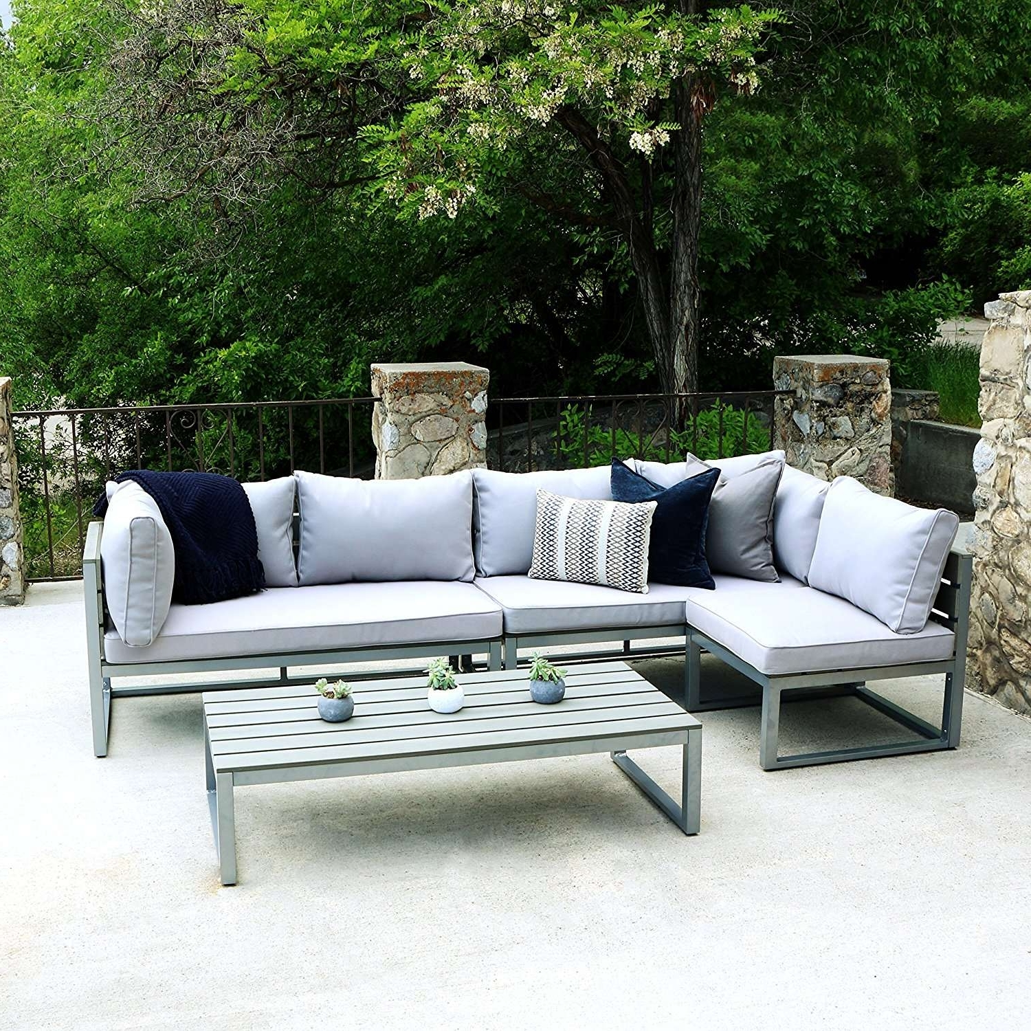 Round Patio Conversation Sets Throughout Famous Conversation Sets Outdoor Sectional Seating Round Patio Concept Of (View 6 of 20)