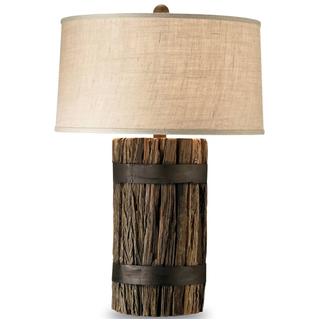 Rustic Living Room Table Lamps With 2019 Lamp : Rustic Lamp Shades For Table Lamps With Tree Wood Twig Swag (View 12 of 20)