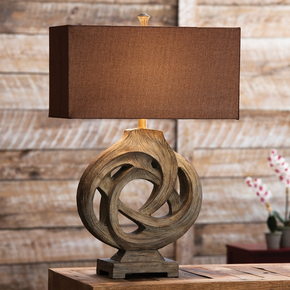 Rustic Living Room Table Lamps Within Trendy Rustic Table Lamps Infinity Branch Table Lamp – Lighting And Chandeliers (Gallery 14 of 20)