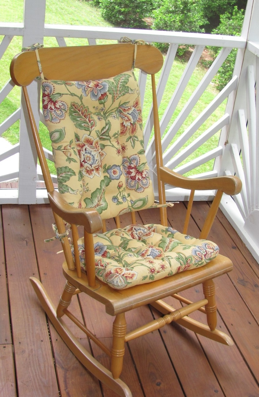 Seating That Is Sure To Please For Outdoor Rocking Chairs With Newest Outdoor Rocking Chairs With Cushions (View 6 of 20)