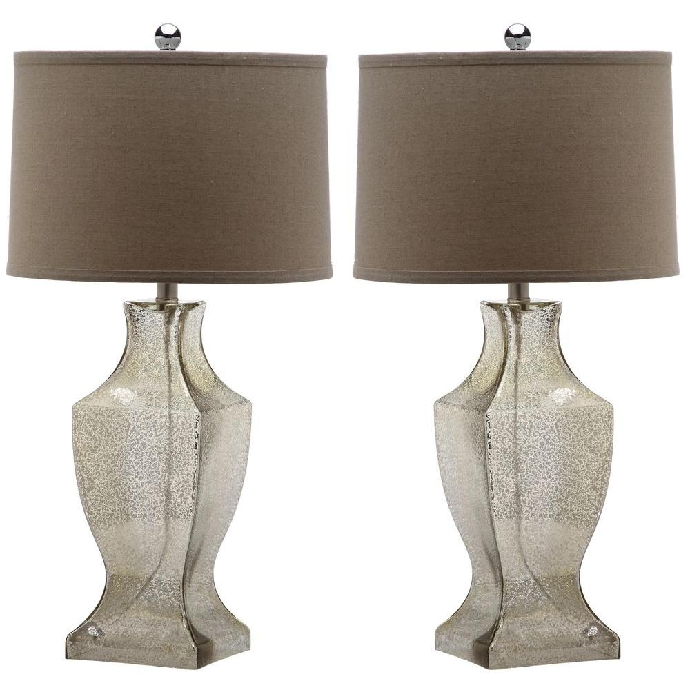 Set Of 2 Living Room Table Lamps With Regard To Recent Safavieh Glass Bottom 28.5 In (View 17 of 20)