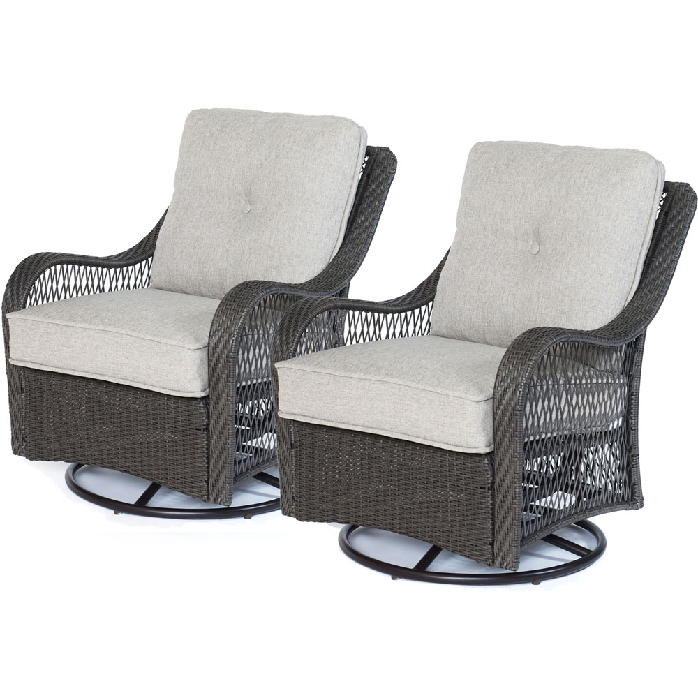Set Of Two Orleans Swivel Rocking Chairs In Silver Lining Inside Best And Newest Swivel Rocking Chairs (View 11 of 20)