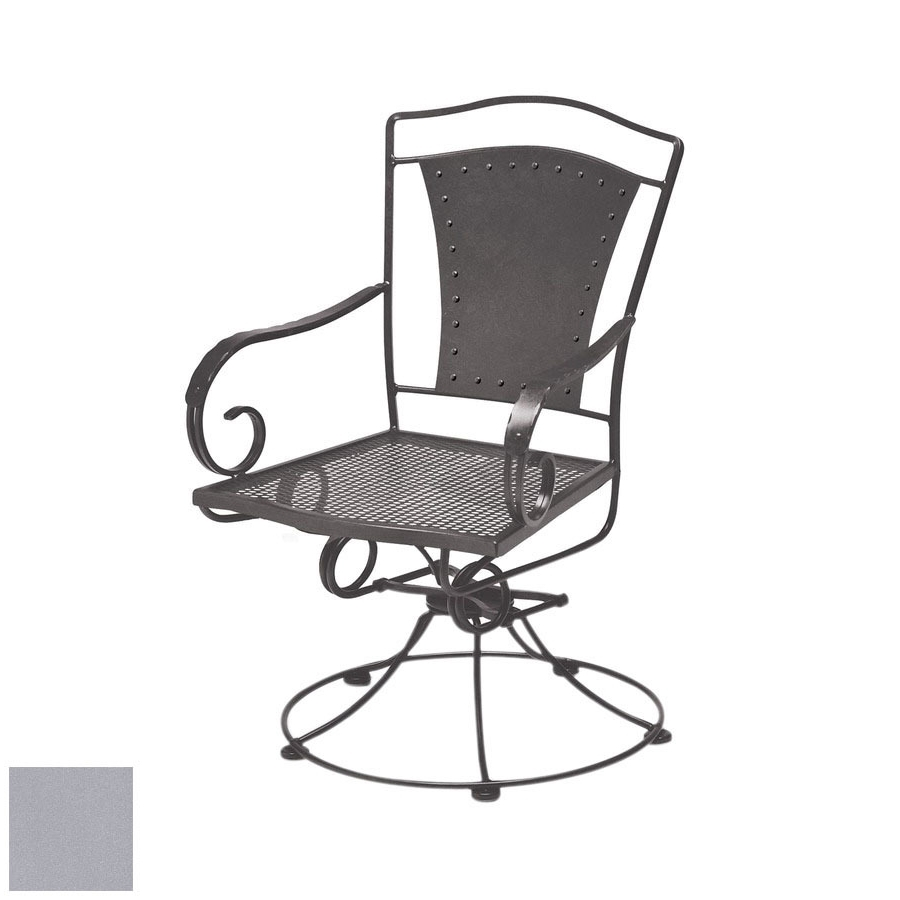Shop Cascadia Reston Wrought Iron Swivel Rocker Patio Dining Chair Intended For Popular Iron Rocking Patio Chairs (View 14 of 20)