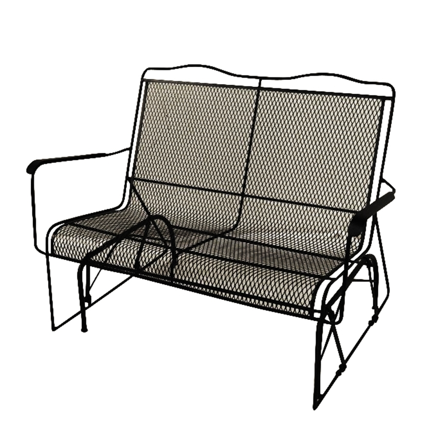 Shop Davenport Wrought Iron Rocking Chair With Mesh Seat At Lowes Regarding Current Iron Rocking Patio Chairs (View 15 of 20)