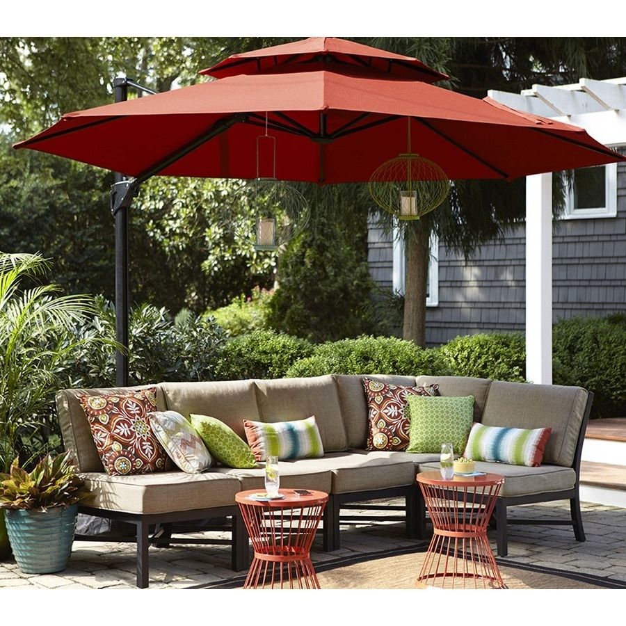 Shop Garden Treasures Palm City 5 Piece Steel Patio Conversation Set With Regard To Best And Newest Steel Patio Conversation Sets (View 12 of 20)