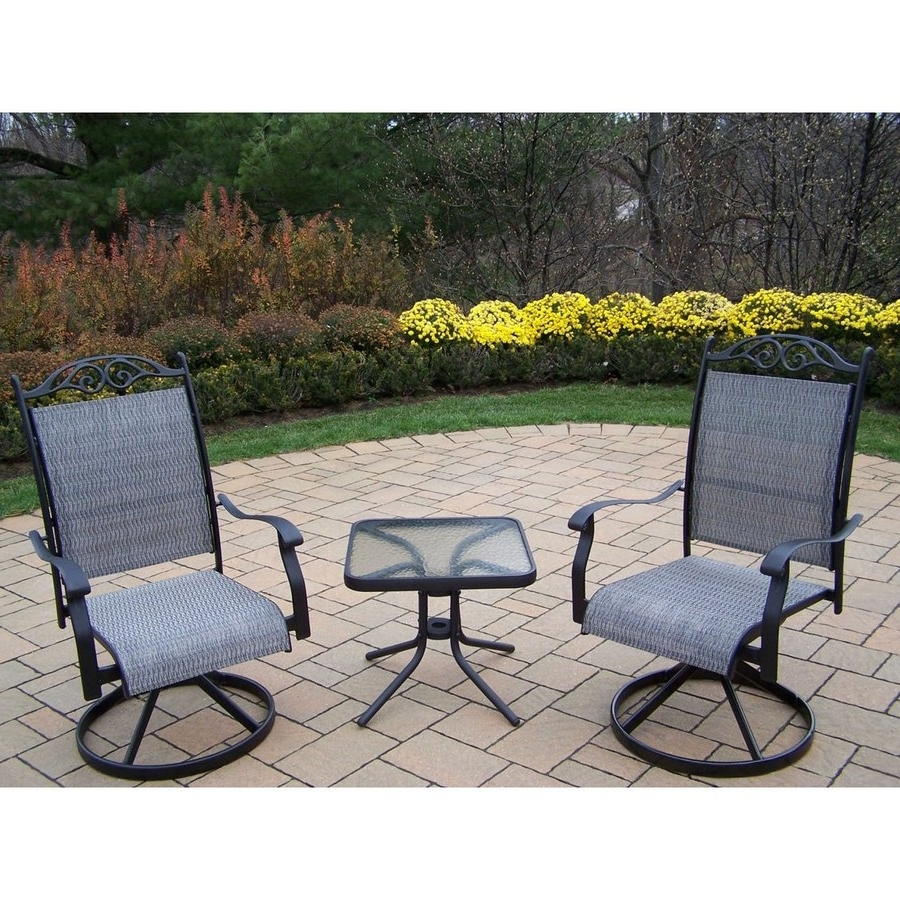 Shop Oakland Living Cascade Sling 3 Piece Frame Patio Conversation Throughout Well Known Sling Patio Conversation Sets (View 10 of 20)