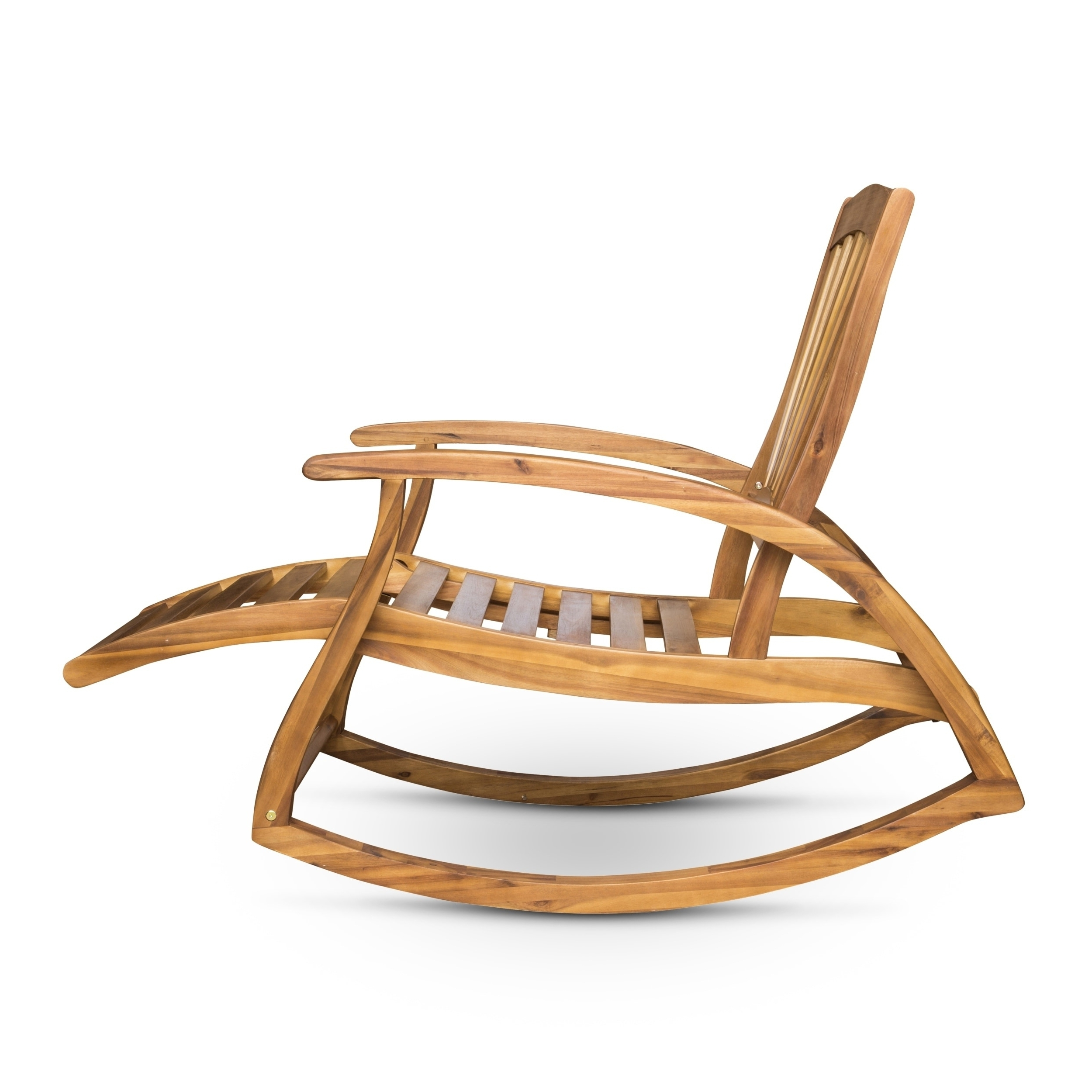 Shop Sunview Outdoor Acacia Rocking Chair With Footrest With Recent Rocking Chairs With Footrest (View 14 of 20)